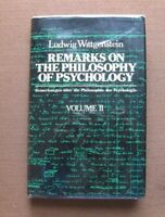 REMARKS ON THE PHILOSOPHY OF PSYCHOLOGY by Ludwig Wittgenstein -1st HCDJ 1980
