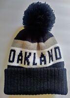 Oakland Raiders Team Color Pom pompom Beanie winter hat cap