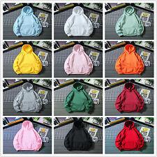 Women Plain Hoodies Hooded Ladies Pullover Jumper Loose Long Sleeve Sweatshirts