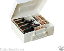 BATTERY ORGANISER * BATTERIES TIDY STORAGE BOX CARRIER HOLDER CASE BOX