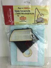 Sunbeam PBFC-6 For SBC-360 Canister Vacuum 6 Bags Intake Hepa Exhaust Filter