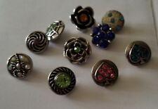 New 10pcs/lot New Rhinestone 12mm Snaps Buttons Bracelets Jewelry