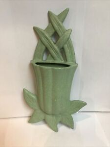 vintage audley pottery wall vase