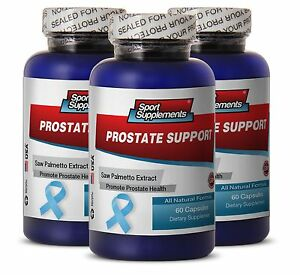 Prostate Support - Natural formula with Saw Palmetto (3 Bottles) Free Shipping
