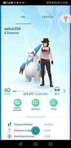 Pokémon Go account 40 account shiny heatran xerneas braviary tornadus landorus