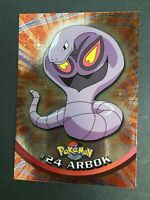 Pokemon - #24 ARBOK - Topps - Series 1 - Chrome Holo - EXC