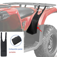 2x Universal ATV Footrest Passenger Foot Peg Mounted Rear Luggage Rack & Up Seat