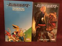 Runaways LOT Paperback Vol 6 Parental Guidance Vol 7 Live Fast Marvel