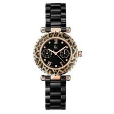 Stainless Steel Case Women's Sport Ceramic Band Wristwatches