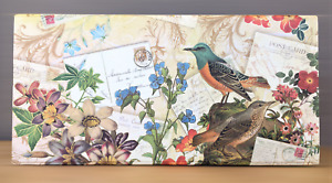 "Punch Studio Bird Pencil Box 8.75"" Trinket Floral Design #61339"