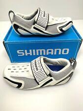 Shimano SH-TR32 Triathlon Cycling Road Bike Shoes White Black Sz 39 NEW in Box
