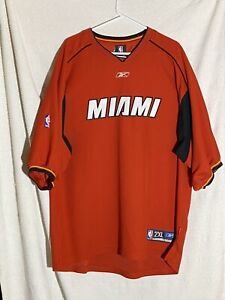 Reebok Miami Heat Warm Up Pullover Red NBA Men's 2XL Embroidered Logo