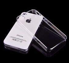 Estuche duro claramente apple iphone 4 5 6 7 8 x cover funda carcasa bumper transparente
