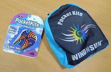 "Pocketkite WindNSun SWIRLS Frameless Kite 21"" Wide Nylon in Carrying Pouch"