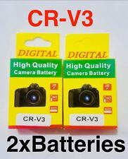 CR-V3 2000mAh Rechargeable Battery x2 Canon Powershot A60 A70, RCR-V3 CR-V3P