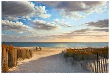 Sunset Beach by Daniel Pollera Art Print Seascape Ocean Nautical Poster 37x25