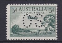 "APD431) Australia 1929 3d Green Airmail type B, punctured ""OS' ACSC 135b"