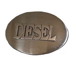 Diesel Steel Oval Belt Buckle
