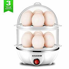 Egg Cooker,350W Electric Egg Maker,White Egg Steamer,Egg Boiler,14 Egg Capacity