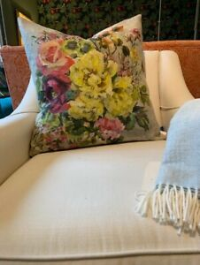 Designers Guild Grandiflora Rose Epice Feather Filled Square Scatter Cushion