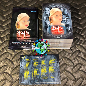 BUFFY VAMPIRE SLAYER SEASON 7 COMPLETE 90-TRADING CARD SET+WRAPPER 2003 INKWORKS