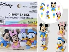 DRESS IT UP BUTTONS  - MICKEY MINNIE DONALD DAISY - DISNEY BABIES - POSTAGE DEAL