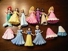 Polly Pocket Disney Princess Lot Dolls Dresses Ariel, Snow White, Cinderella