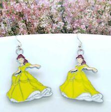 One Pair Disney Princess Belle Cartoon Drop Earrings 👑👑👑