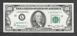 1963A $100 L00359677* Star Note, Short run of 832K printed, XF/AU