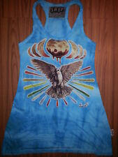 i Yoga Mini Dress sleeveless cotton Pigeon Peace Love world Om NO TIME Hippie M