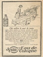 W1657 Eau de Cologne 4711 - Pubblicità del 1926 - Old advertising