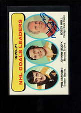 1971-72 TOPPS #1 BOBBY HULL AUTHENTIC ON CARD AUTOGRAPH SIGNATURE AX1680