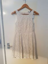 NEW LOOK NWT Lady's cream floral cut out back dress size 12