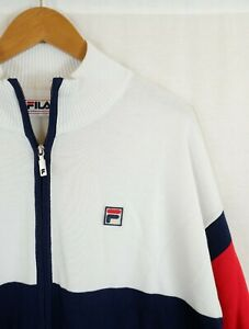 Fila Knitted Colour Block Cardigan Track Top XL