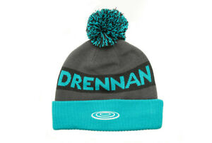 DRENNAN AQUA / BLACK BOBBLE HAT - FISHING WEAR