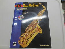 Basix Sax Method by Alfred music Sean Stackpoole paperback songbook with CD