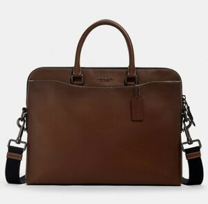 Coach Portfolio Leather Briefcase With A Louis Vuitton Dust Bag