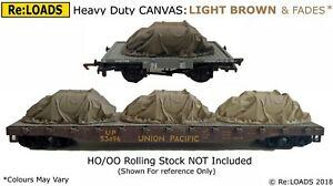 LIGHT BROWN 'Canvas' Tarped Covered Sheeted Road & Railway Load, HO, OO