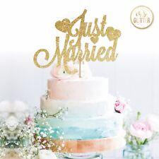 Wedding Cake Topper recién casados señor y la señora Brillo Cake Topper pastel de bodas