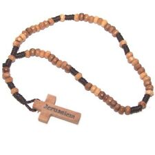 lot of 12 Olive wood rosary beads for prayer from Holy Land