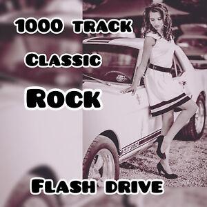 New 16gb usb flash drive + ++ 1000 Classic Rock MP3 Music To Go