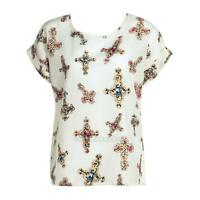 2017 Fashion Women Summer Chiffon Blouse Casual Loose Short Sleeve Tops T Shirt