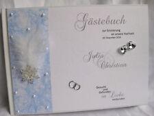 """Gästebuch Hochzeit  """"Winterhochzeit"""" Tischdeko Hochzeitsdeko"""
