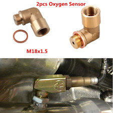 O2 Oxygen Sensor Extender 90 Degree Angled Bung Extension Spacer M18 X 1.5 Brass