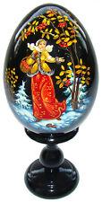 Oeuf en bois, Oeuf Collection Russe Conte Russe Morozko, cadeau original Noel
