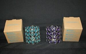 HI-Avon Birthstone Colored Votive Holders Set of 2, February and March