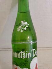 Vintage Mountain Dew Hillbilly 10 oz Green Glass Soda Pop Bottle