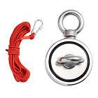 Fishing Magnet Kit 660lb Pull Force 33FT Nylon Rope Strong Neodymium 2 Eyebolts