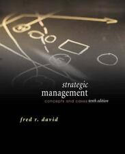Strategic Management : Concepts and Cases by Fred R. David (2004, Hardcover)