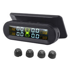 Universal Tire Pressure Monitor with External Sensors Wireless Solar TPMS